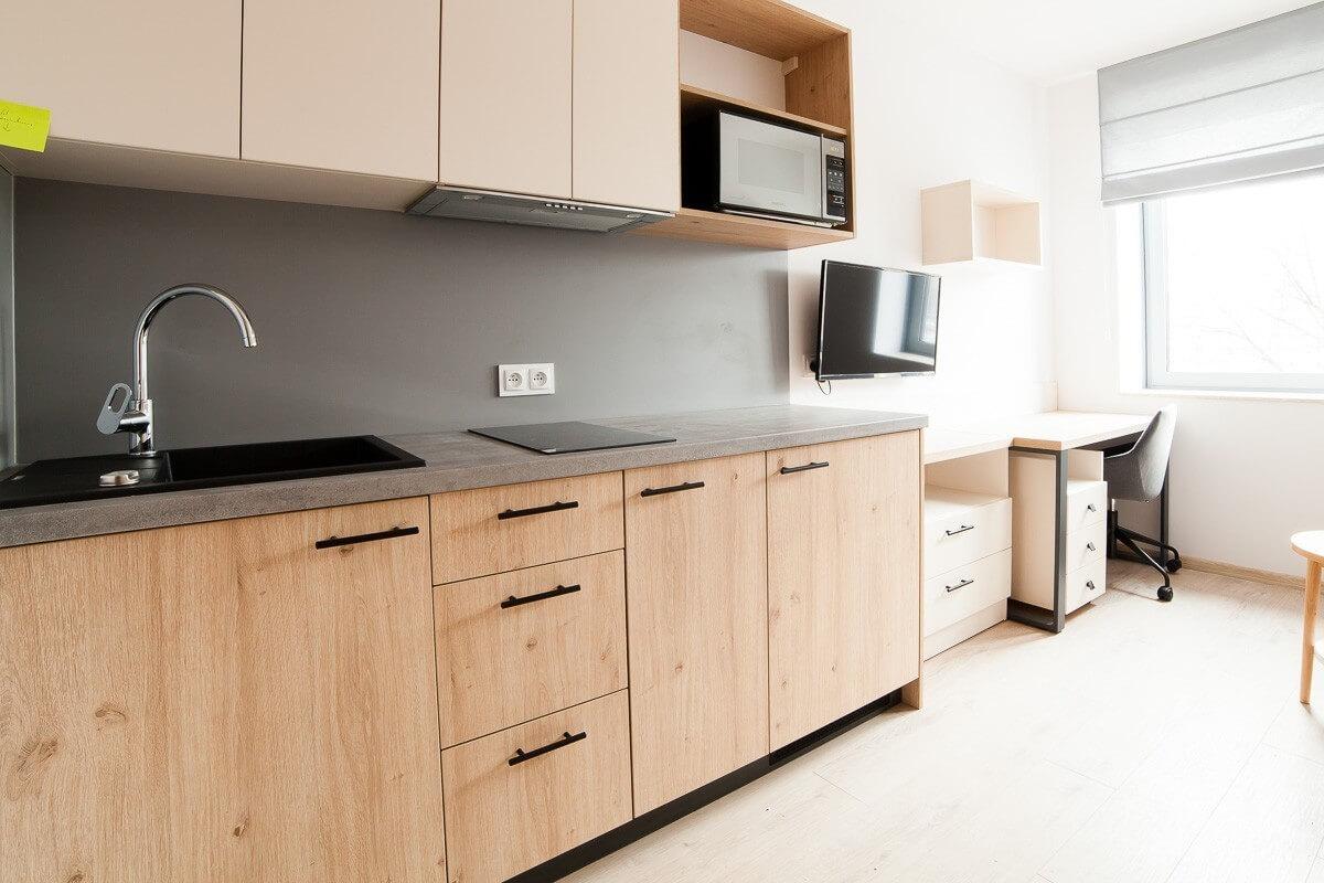 1-комнатная квартира 17 м2, Вроцлав